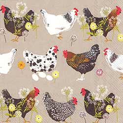 Spatter Hens Paper Cocktail Napkins
