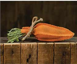Orange Burlap Carrot