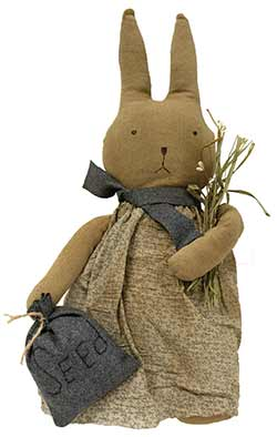 Grungy Girl Bunny Doll with Seeds