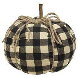 Black Buffalo Check Pumpkin - Large