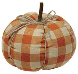 Orange Buffalo Check Pumpkin - Medium