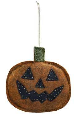 Jack o'Lantern Felt Ornament
