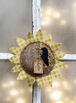 Sunflower Felt Ornament