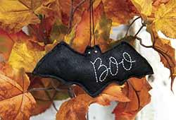 Boo Bat Felt Ornament
