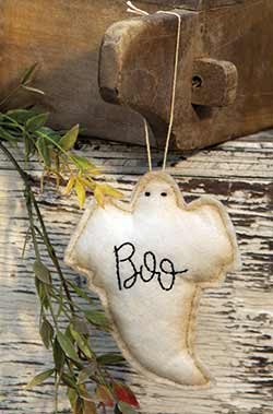 Boo Ghost Felt Ornament