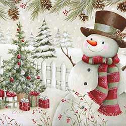 Pinecone Snowman Coaster
