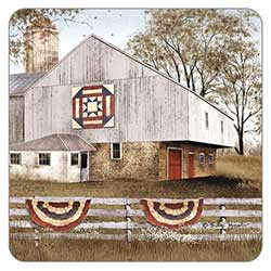 American Star Quilt Coaster