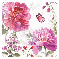 Large Pink Flowers Coaster
