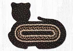 Mocha Frappuccino Braided Cat Rug