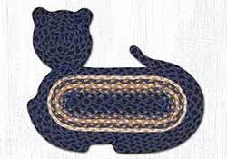 Light & Dark Blue Braided Cat Rug