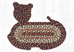 Terra Cotta Braided Cat Rug