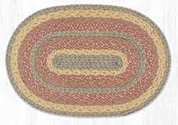 Rose Gold 20 x 30 inch Braided Rug - Oval