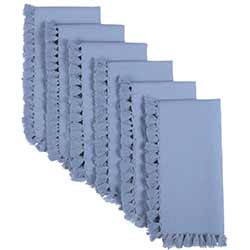 Cassidy Solid blue Napkins (Set of 6)