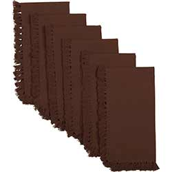 Cassidy Solid Burgundy Napkins (Set of 6)