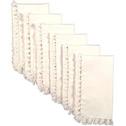 Cassidy Solid Creme Napkins (Set of 6)