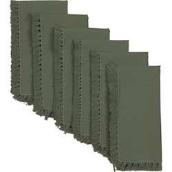 Cassidy Solid Green Napkins (Set of 6)