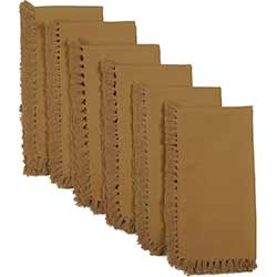 Cassidy Solid Gold Napkins (Set of 6)