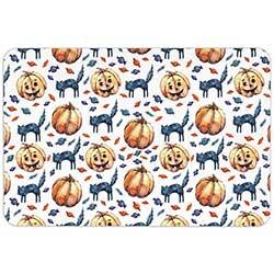 Cats & Jacks Halloween Floor Mat