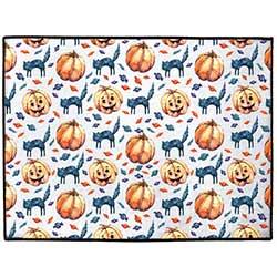 Cats & Jacks Halloween Floor Mat (Indoor/Outdoor)