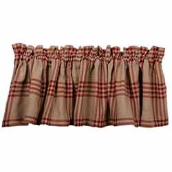 Chesterfield Check Red Valance