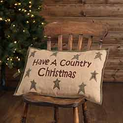 Country Christmas Pillow (14x22)