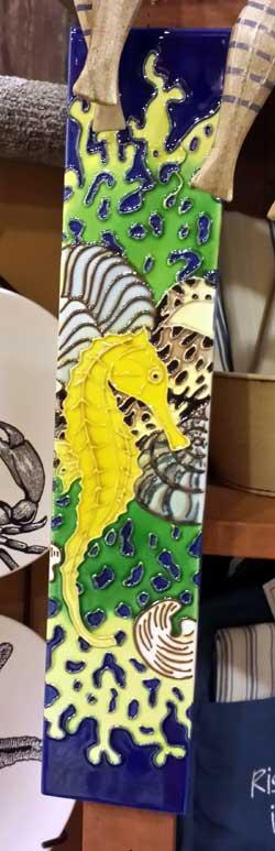 Seahorse Art Tile