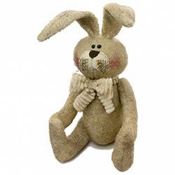 Stuffed Sitting Bunny With Scarf