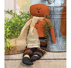 Autumn Plaid Pumpkin Man