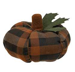 Autumn Plaid 6.5 inch Pumpkin