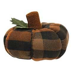 Autumn Plaid 5 inch Pumpkin