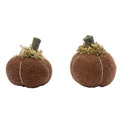 Mini Felt Pumpkins (Set of 2)