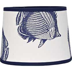 Angel Fish Drum Lamp Shade - 14 inch