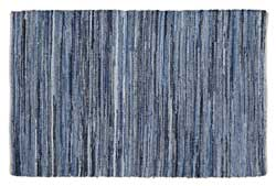 Denim & Hemp Chindi Rag Rug (Multiple size options)