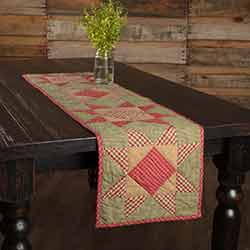 Dolly Star Quilted 48 inch Table Runner