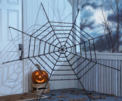Giant Glitter Spider Web