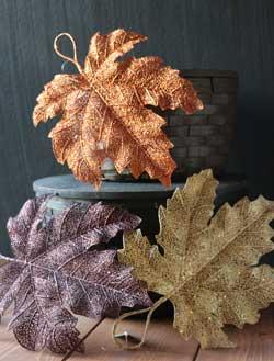 Shimmer Fall Leaf - Large