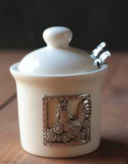 Rooster Jar with Spoon