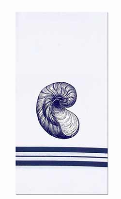 Nautilus Shell Towels (Set of 2)