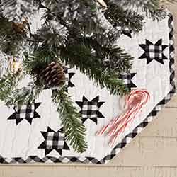 Emmie Black Patchwork Mini 21 inch Tree Skirt