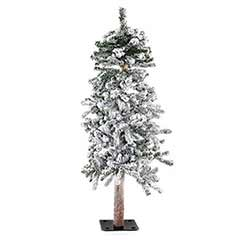 Flocked Alpine Christmas Tree - 4 foot