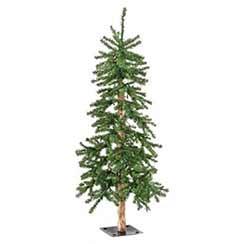 Pre-Lit Alpine Christmas Tree - 6 foot