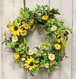 Sunflower and Daisy Wreath