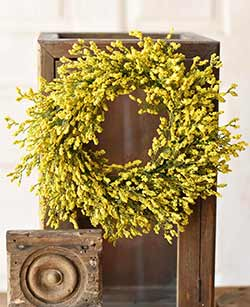 Yellow Array Astilbe 6 inch Candle Ring