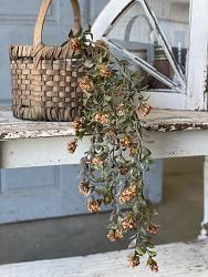 Pumpkin Late Bloomer Floral Hanging Bush