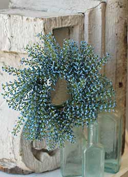 Blue Bursting Astilbe 3 inch Candle Ring