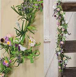 Lilac Garden Floral Garland