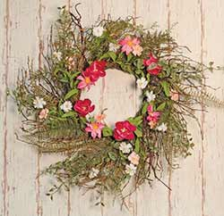Pink Gardenia & Twig Wreath