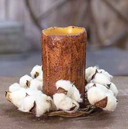 Teastain Cotton Ball Candle Ring