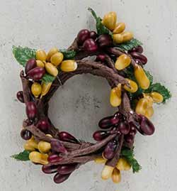 Burgundy & Old Gold Pip Berry Ring - 1 inch