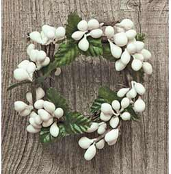 White Pip Berry Ring - 1 inch